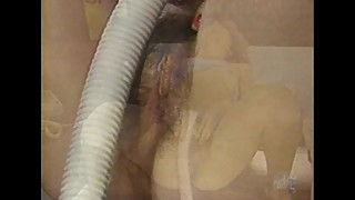 Hot Teen blonde fucks her vacuum cleaner
