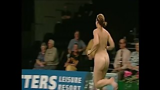 Female Streakers At Bowls & Snooker (2 women decide to liven up the sports)