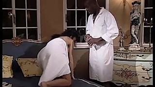 Massages and a big black cock for a wet white pussy