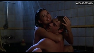 Demi Moore - Teen Topless Sex in the Shower + Sexy Scenes - About Last Nigh