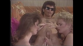 Guy In Sunglasses Satisfies Two Babes