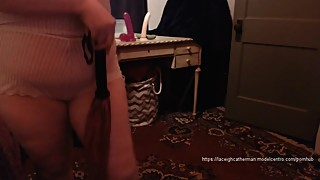 Vintage Lingerie Booty Shake and Spanking