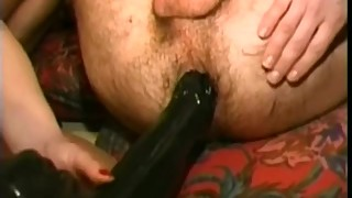 Male gets fisted in ass and finger in urethra