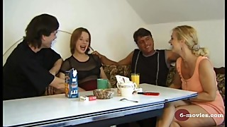 6-movies.com - 2 Mature couples changing there sex partners -