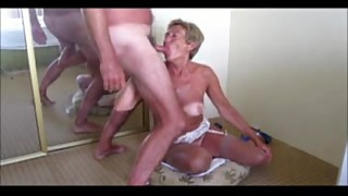 Sexy granny loves big cocks and cum