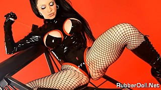 Pure Classic Fetish Dream With Mega Horny Rubber Doll!