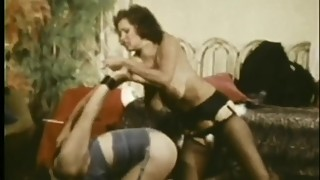 Vintage Catfight & BDSM Brunettes
