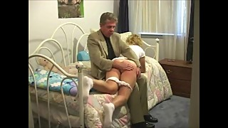 The Anxiety Of The Girl Awaiting Her Bare Bottom Spanking