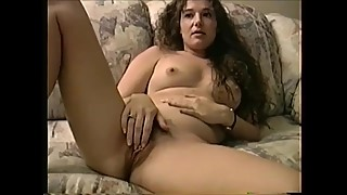 Sexy Shy MILF Spreading Hairy Pussy and Rubbing Firm Tits