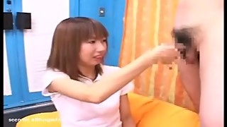 Japanese CFNM Japanese girl draws guy jacking off and more