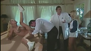Cheerleaders Julie Meadows and Allysin Chaines fuck the dean (Full Scene)