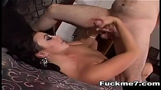 Lesbian Teens Kissing and Latex Glove Mutual Masturbation