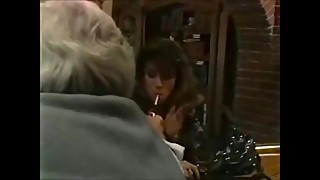 Christy Canyon Smokes Then Fucks