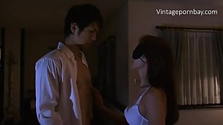 Blind Japanese Mom Doesn't know she is fucking by her son! [Vintagepornbay]