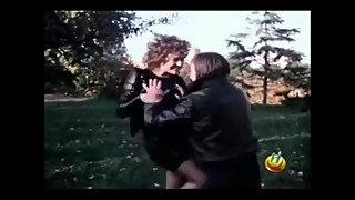 Classic Movie Leather Ballbusting Knee
