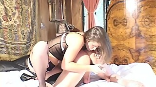 huge strapon french pegging