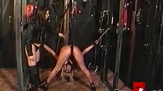 BRUCESEVENFILMS - Lesbo Summer Cummings tied up and whipped