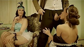 Retro video with tied vixen getting fucked