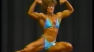 Vintage female muscle poser late 80s