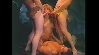 Three Cocks For Horny Blonde