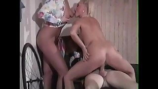 Horny Norwegian blonde in classic retro scenes