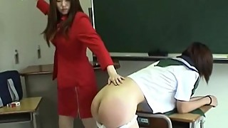 165 CLASSIC Student Contraband Gets Severe Spanking By HOT Japansese Teacher