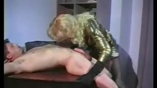 Vintage shemale & Guy fuck