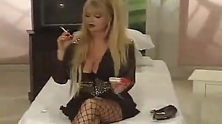 SWEET SMOKING PORNSTAR WITH BIG BOOBS