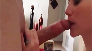 Wife Sucks His Huge White Cock on cam