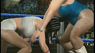 Vintage virtual fighting - Melissa (white outfit) vs Barbi (blue outfit)