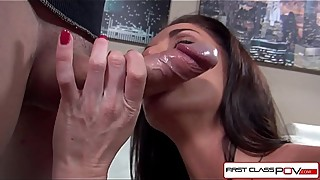 Watch Silvia Saige suking a huge cock with her wet mouth